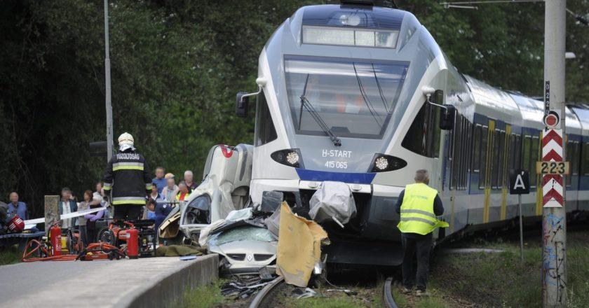Vasúti baleset Veresegyháznál