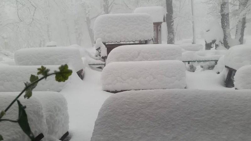 55 centiméteres hó Dobogókőn