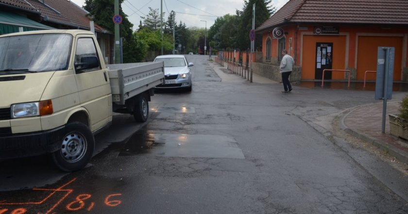 Közúti veszélyeztetés Gödön