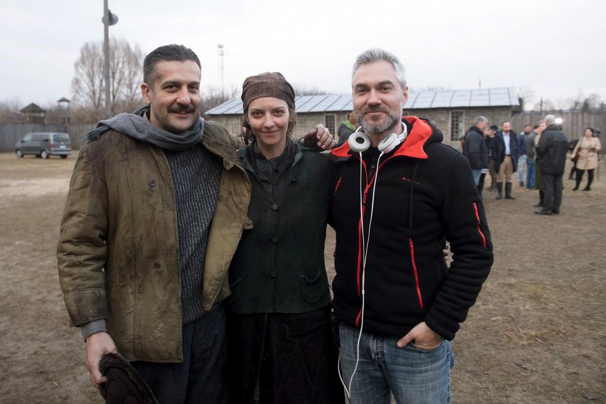 Csányi Sándor, Gera Marina és Szász Attila - Örök tél forgatás