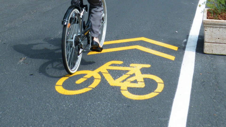 Szentendrei kerékpárút a Dunakorzón