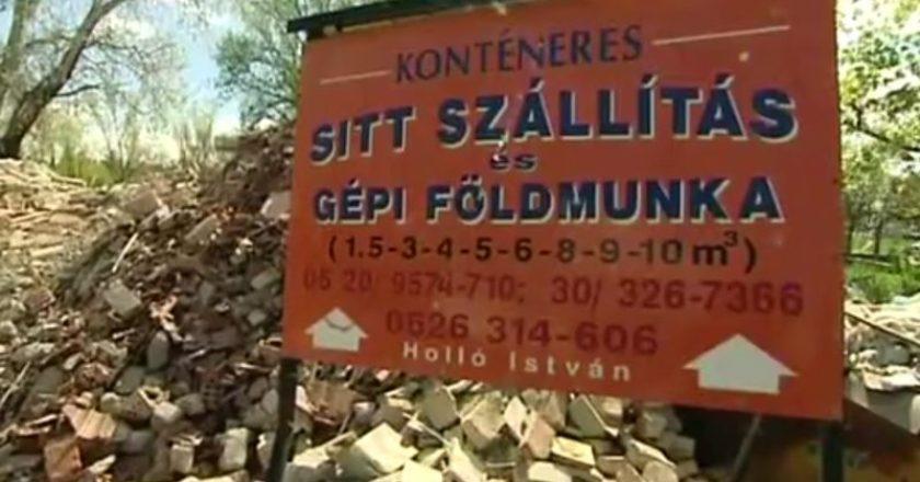 Engedély nélküli hulladéktelep Szentendrén