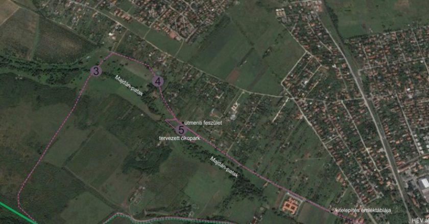 Budakalászi Major tervezett helyszíne
