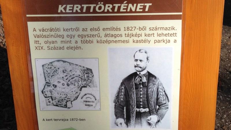 Vácrátót - kerttörténet
