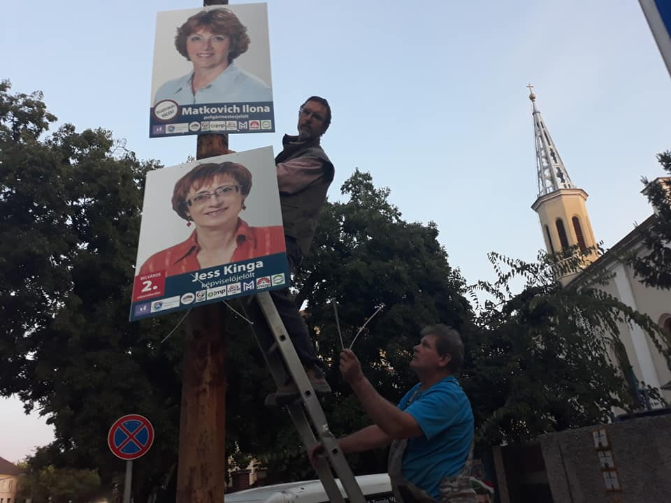 Matkovich Ilona Vác polgármesterjelölt plakát