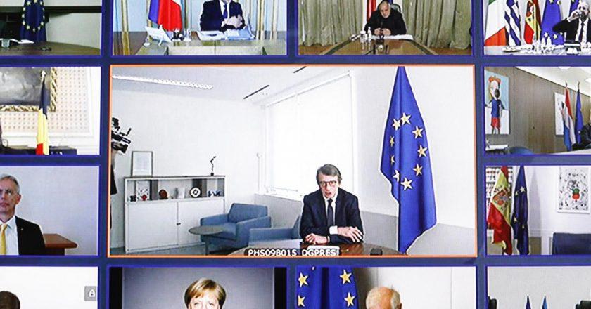 Európa Parlament pleáris ülés videokonferencia