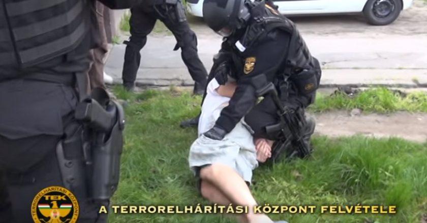 TEK akció Vácott