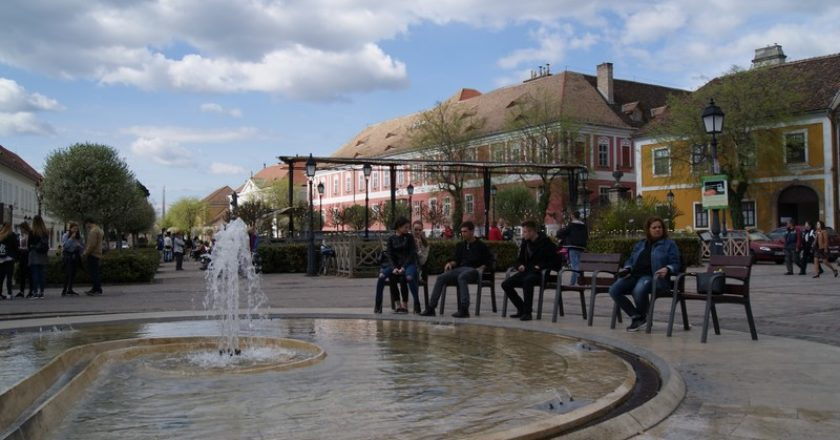 Erasmus program keretében diákokVácon