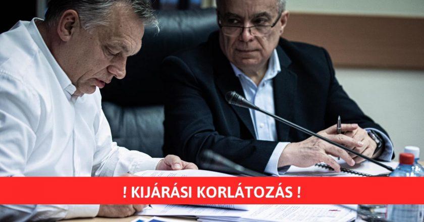 Orbán Viktor kijárási korlátozás Magyarország