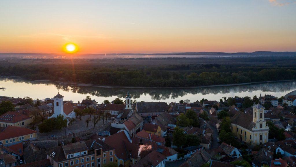 Napfelkelte Szentendrén légifotó